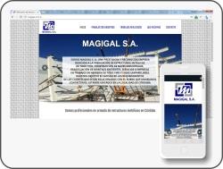 pagina web en wordpress de magigal S.A.